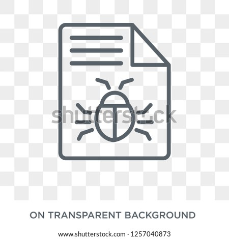 Bug report icon. Trendy flat vector Bug report icon on transparent background from Programming collection. High quality filled Bug report symbol use for web and mobile