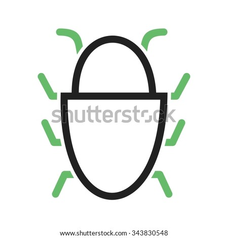 Royalty free stock photos and images bug software data Vector image software