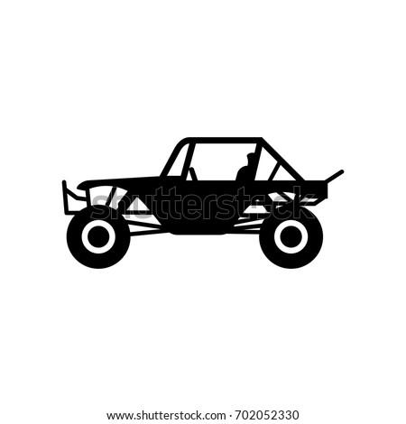 buggy car vector logo.
