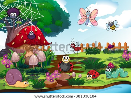 bugs living by the river