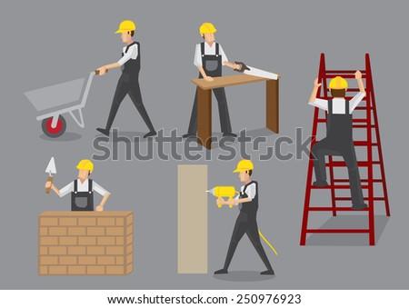 builder in yellow helmet and