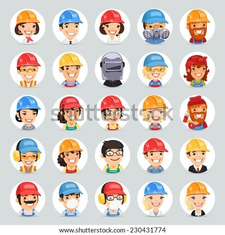 builders cartoon characters