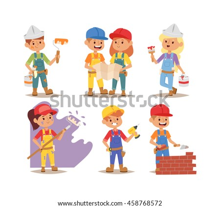 builders kids boys and girls