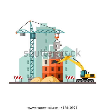Building a house. Vector Illustration.
