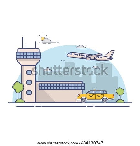 building airport terminal and
