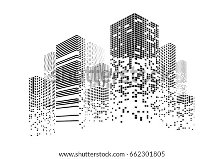 building and city illustration