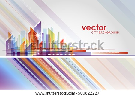 Building and City Illustration vector