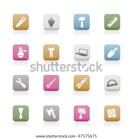 Building and Construction Tools icons - Vector Icon Set - stock vector