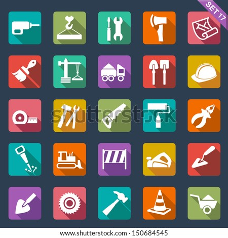 Building and tools icons