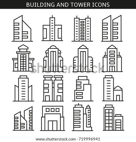building and tower icons