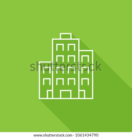 Building, apartments Icon, stock vector illustration, EPS10.
