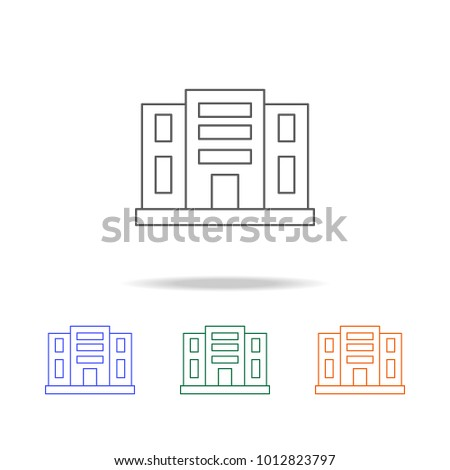 Building appartments icon. Element of Real Estate multi colored icons for mobile concept and web. Thin line icon for website design and development, app development. Premium icon on white background