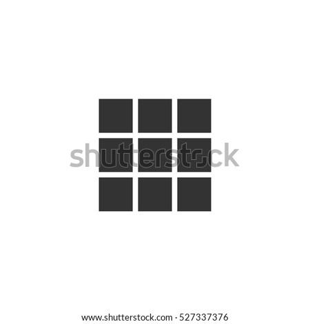 building block icon flat