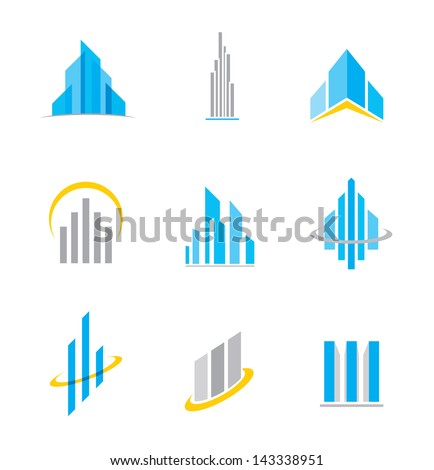 Building business construction logo symbol and icon