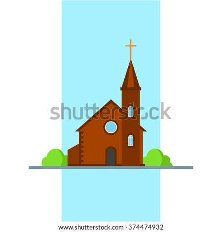 building church flat icon