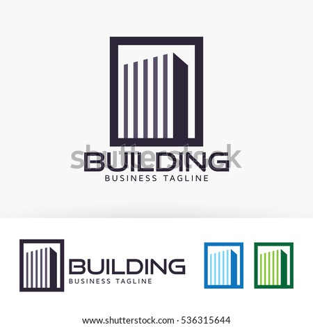 Building, city, construction, architect, vector logo template