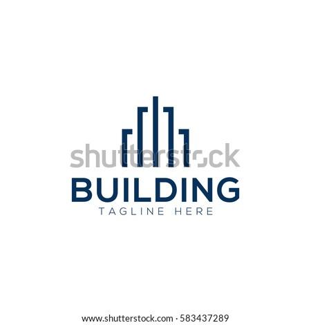 Building construction logo design