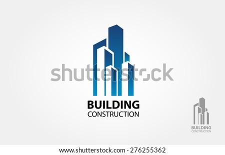 Building construction vector logo design template