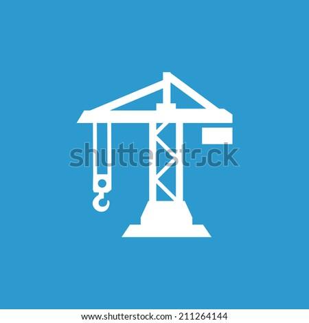 Building Crane Icon Isolated