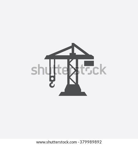 building crane Icon Vector