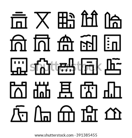 Building & Furniture Vector Icons 4