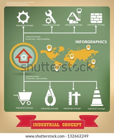 Building graphics design,vector