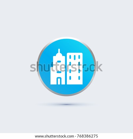 building icon. city sign
