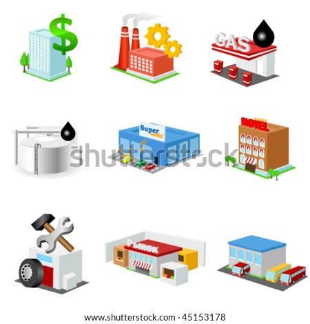 Building icon set