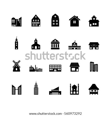 Building icon set.