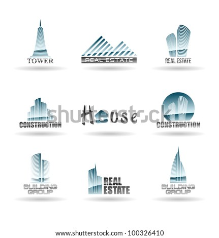 Building icon set. Abstract architecture for your design. Set 2.