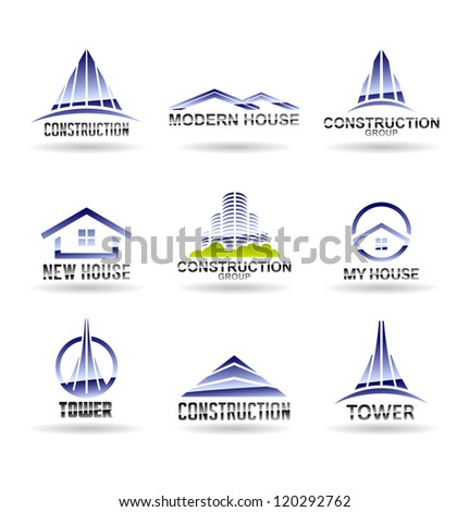 Building icon set Construction and real estate Vol 6