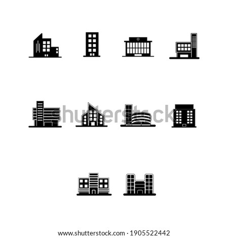 building icon set or company building
