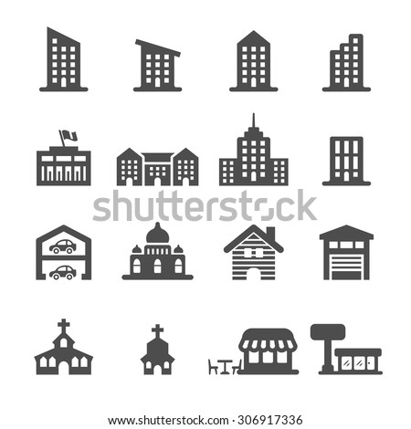 building icon set 3, vector eps10.