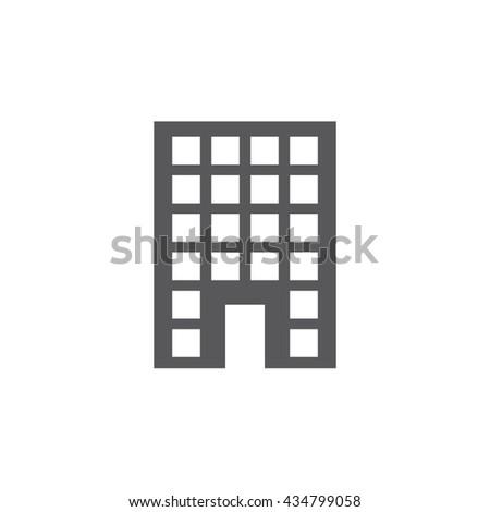 Building  Icon, Vector