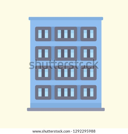 Building Icon Vector Graphic Download Template Modern