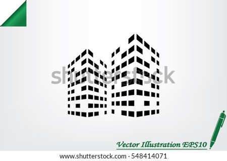 Building icon vector illustration eps10.