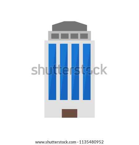 Building icon vector isolated on white background for your web and mobile app design, Building logo concept