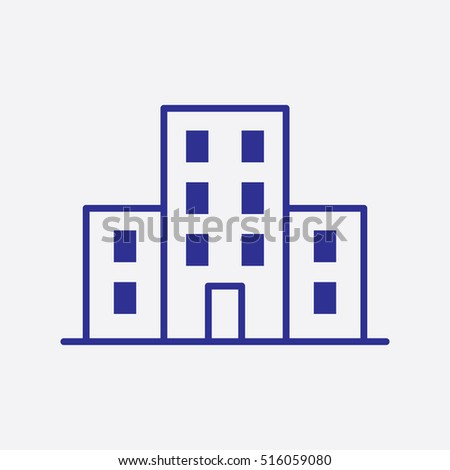 Building Icon Vector Skyscrapers Design