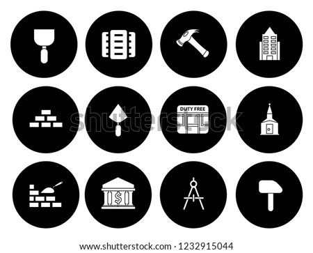 building icons set - vector architecture office buildings and architecture city urban real estate
