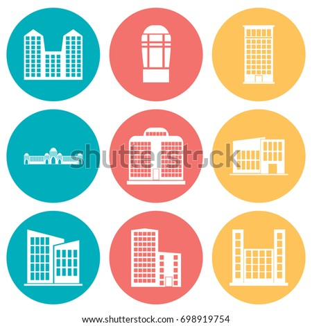 Building Icons Set. Vector illustration