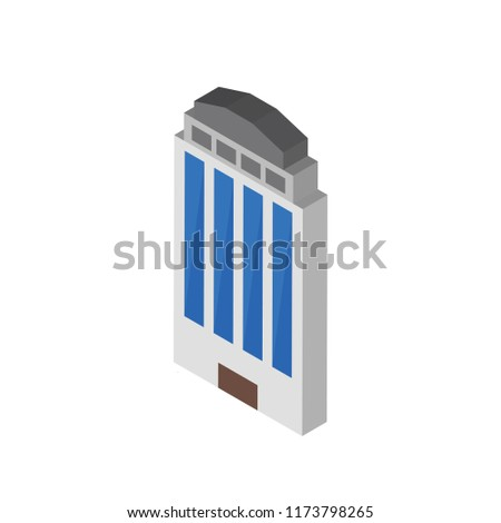 Building isometric left top view 3D icon