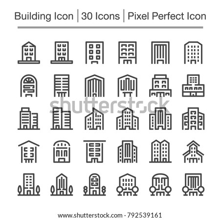 building line icon,editable stroke,pixel perfect icon