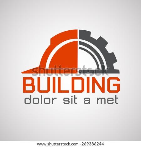 Building logo, construction working industry concept.- Vector illustration