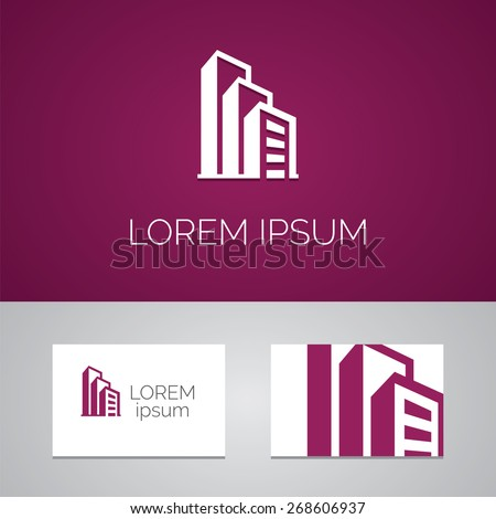 building logo template icon design elements with business card