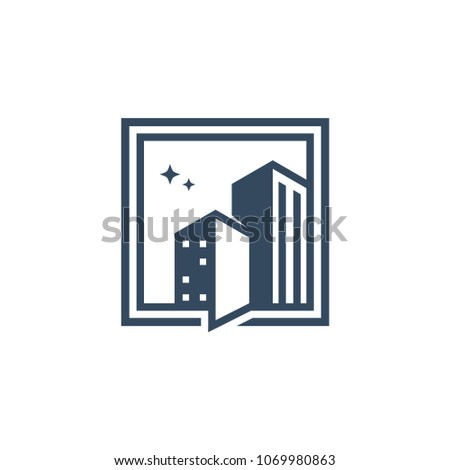 building logo template vector illustration