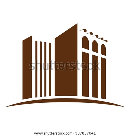 building logo vector. middle...