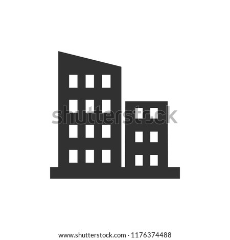 building. monochrome icon