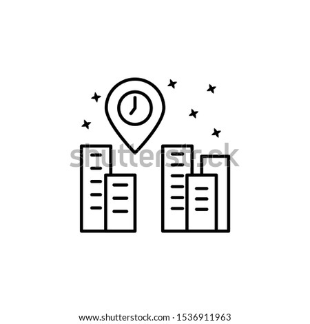 Building navigator icon. Element of maps and navigator icon