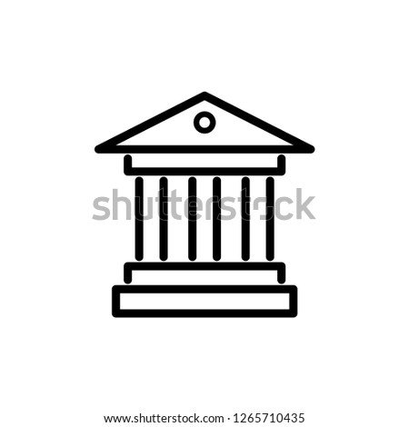 building of law, court of law vector icon