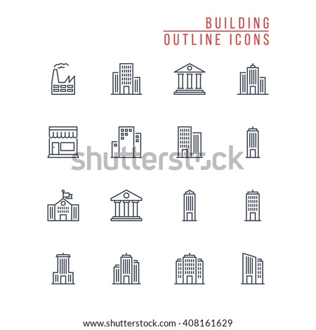 Building Outline Icons